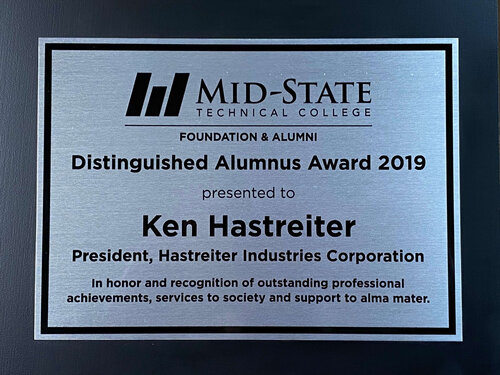 Distinguished alumni award - Ken Hastreiter